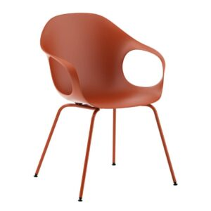 Elephant-dining-chair-Terracotta-brown-by-Kristalia
