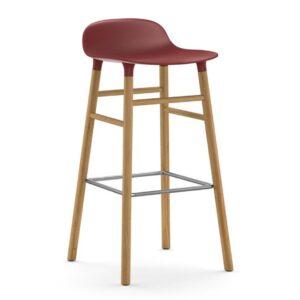 Form-Barstool-75cm-Oak-Red-Normann
