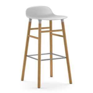 Form-Barstool-75cm-Oak-White-Normann