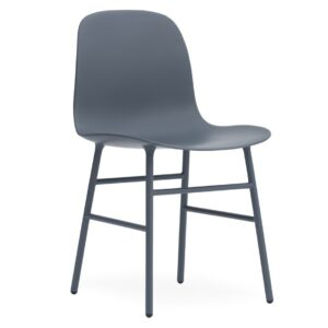 Form chair - steel - blue