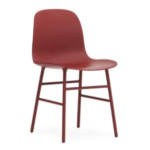 Form-chair-steel-Red-by-Normann
