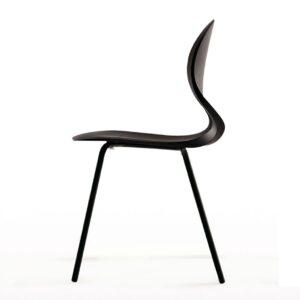 Pikaia-Four-Legs-chair-Black-by-Kristalia