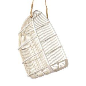 Renoir swing chair - alu-rattan - dove white