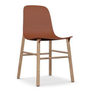 Sharky lounge chair - Terracotta Brown